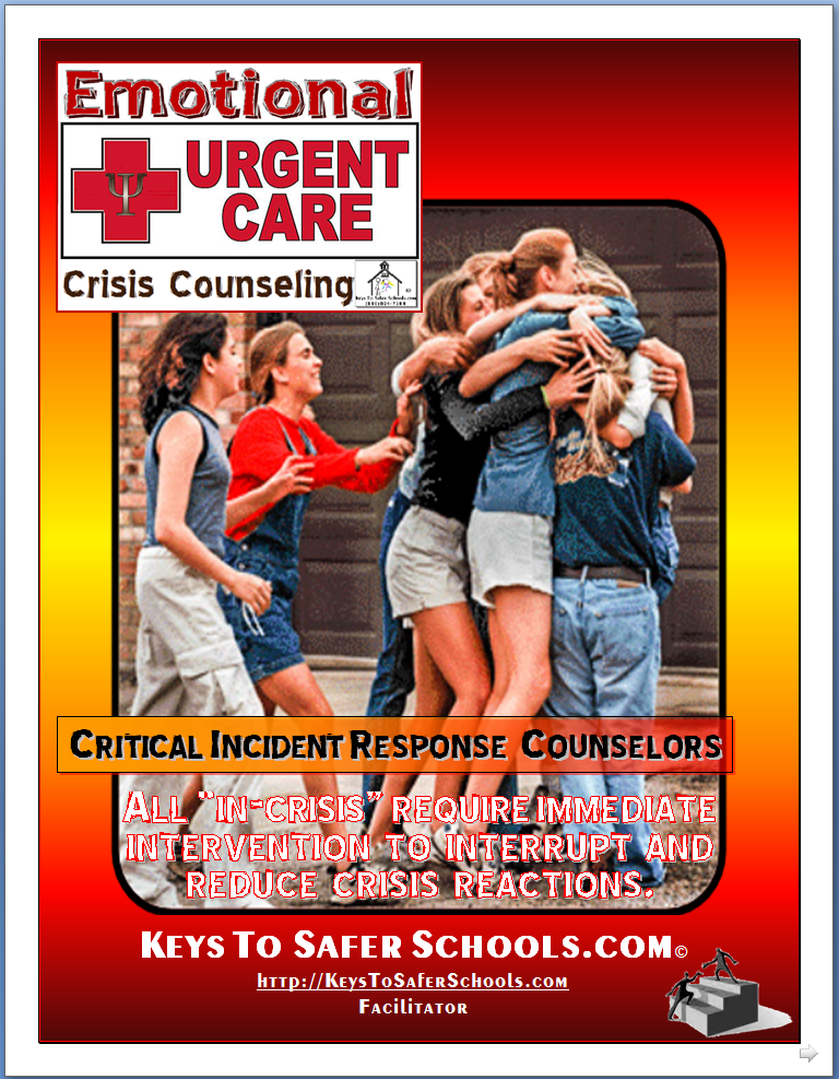 Emotional Urgent Care - Critical Incident Response Counseling